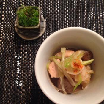 鶏むね肉と石川芋のネギまみれ