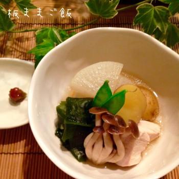 若芽の塩気でほっこり 鶏むね肉と若芽の煮物