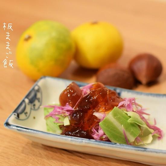 自家製簡単土佐酢ジュレの作り方付き♪ 菊とキャベツのジュレがけ