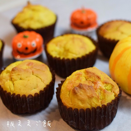 【簡単混ぜて焼くだけ】チーズとかぼちゃのふんわりマフィン