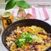 【フライパンのまま食卓へ】春キャベツとホタルイカのからし白味噌煮