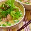【すりおろしセロリが美味しい】セロリと肉団子のピリ辛豆乳素麺