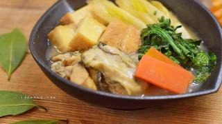 【スパイスがほのかに香る】牡蠣の土手鍋