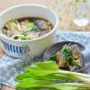 揚げ秋刀魚と春野菜の生姜醤油浸し